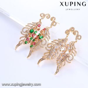 94172 Fashion Luxury 18k Gold Colorful Stone Zircon Jewelry Earring pictures & photos