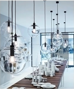 Dlss Hot Sale modern Glass Pendant Lighting Decoration Iron Handing Pendant Lamps pictures & photos