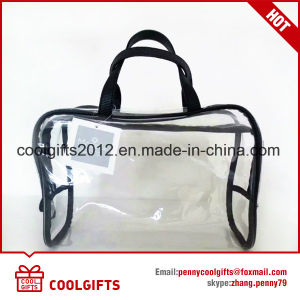 Promotional Lady Makeup Wash Cosmetic Bag with Transparent PVC pictures & photos