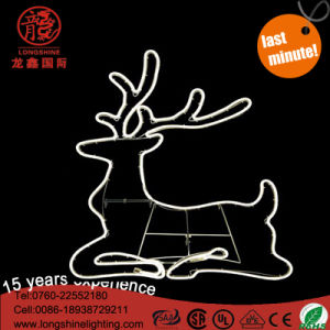 LED Warm White IP65 Rope Neon Reindeer Christmas Light for Xmas Decoration pictures & photos