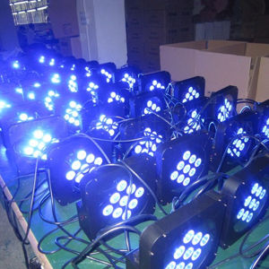 9X12W LED Stage Lighting Wireless Battery Powered LED PAR Can pictures & photos