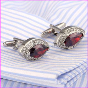 Fashion Red Ruby Diamond Rhinestone Cufflinks pictures & photos