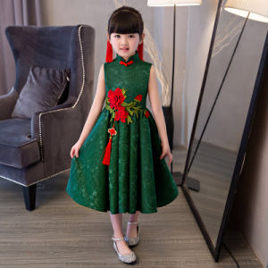 [Flower Girl Dress] 3D Embroidery Ancient Chinese Dress Lace Dress