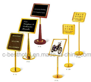 fashion Hotel Outdoor Hotel Lobby Metal Sign Board pictures & photos