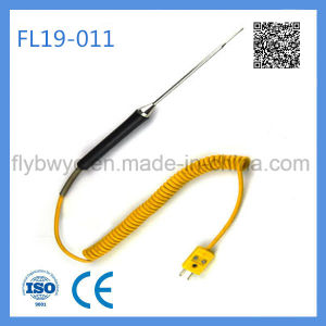 Needle Shape K Type Thermocouple Soft Temperature Sensor with Sharp Tip pictures & photos