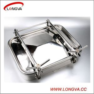 Food Grade Ss304/Ss316L Square Manhole Cover pictures & photos