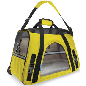 Airline Approved Pet Carriers W/ Fleece Bed for Dog & Cat Indoor/Outdoor Pet Home, Deluxe Pet Carrier Esg10037 pictures & photos