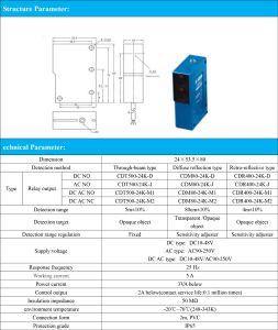 Diffuse Reflection 80cm Sensing Distance DC No Photoelectric Switch Sensor pictures & photos