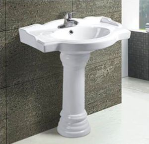 Hot Sale Modern Bathroom Ceramic Pedestal Basin pictures & photos
