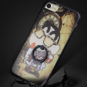 Wholesale Cartoon Phone Case with Finger Ring Holder for iPhone 7/7 Plus