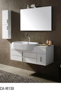 High Glossy Solid Wood Bathroom Cabinet Ca-M310 pictures & photos