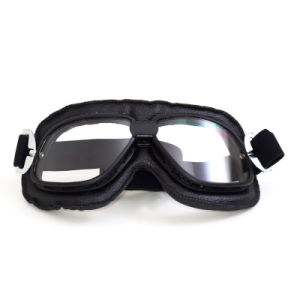 Transparent Lens Mirrored Coating Prescription Polarized Dirt Bike Goggles pictures & photos