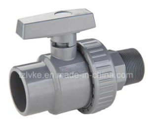 PVC Single Union Ball Valve for Chemical with ISO9001 (Male, MBSPT, MNPT) pictures & photos