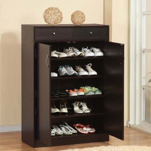 Cheap Wood Shoe Cabinet Style Shoes Rack pictures & photos