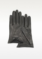 Fashion Women Leather Glove Short Style with Mini Bow (WTS863)