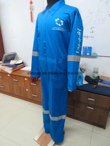 Workwear Overall with Printing and Reflective Tapes pictures & photos
