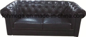 Chesterfield Design Leather Hotel Restaurant Sofa (FOH-CBCK64) pictures & photos