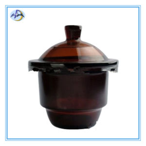 Glass Brown Vacuum Desiccator with Porcelain pictures & photos
