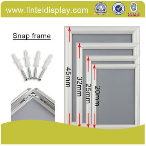 32mm Edge Aluminum Snap Frame Silver Poster Frame (A1/A2/A3/A4) pictures & photos