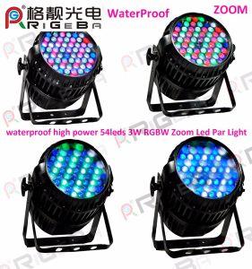 DMX Waterproof 54X3w RGBW Zoom LED PAR Can Light pictures & photos