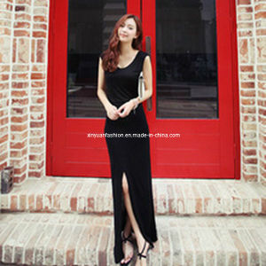 2013 Ladies Summer Fashion Black Chiffon High Split Dresses (XYT-234)