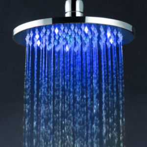 Luxury Bathroom Temperatures Sensor 8inche Round Shower LED