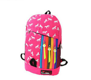 Custom Colourful High School Backpack Bag pictures & photos