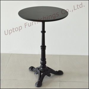 Antique Style Black Cast Iron Cafe Round Dining Table (SP-RT104) pictures & photos