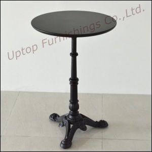 Antique Style Black Cast Iron Cafe Table (SP-RT104) pictures & photos