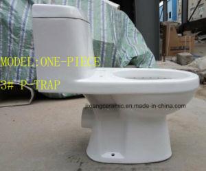 Wc Ceramic One-Piece P-Trap Toilet pictures & photos