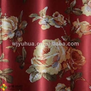 245GSM Shinning Print Blackout Curtain Fabric Home Textile