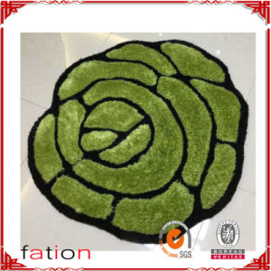 Shag Collection Cost Price Rose-Shaped Door/Bath Mat pictures & photos