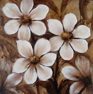 Oil Painting of Decorative Flowers-6 pictures & photos