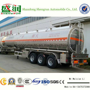 Oil Tank Truck Trailer 40000 Liters Aluminum Tanker 3 Axle Fuel Tank Semi Trailer