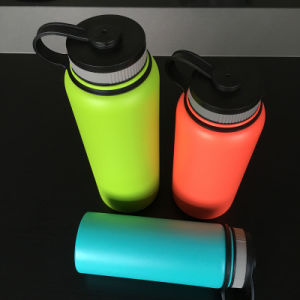 Wide Mouth Stainless Steel Insulated Vacuum Flask with Finger Holder (SH-ST23) pictures & photos