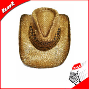 Printed Raffia Straw Cowboy Hat Promotional Hat pictures & photos