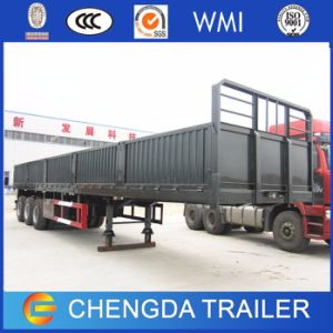 60tons Tri-Axle Side Wall Semi Trailer for Sale in Africa pictures & photos