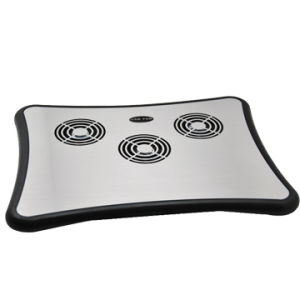 Aluminium Notebook Cooling Pad Non-Slip Mat with 4 USB Hub Style No. CF-303 pictures & photos