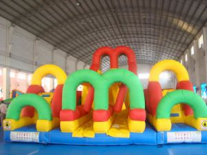 Customized Coco Water Design Inflatable Colorful Obstacle Castle LG9070 pictures & photos