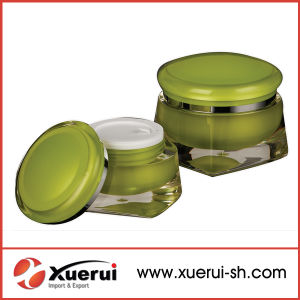 Colorful Cosmetic Empty Acrylic Cream Jar for Cosmetic Packaging pictures & photos