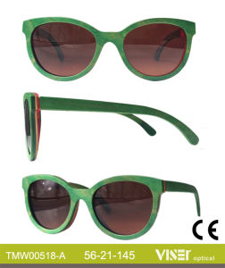 Fashion Wooden Sunglasees with High Quality (518-B) pictures & photos