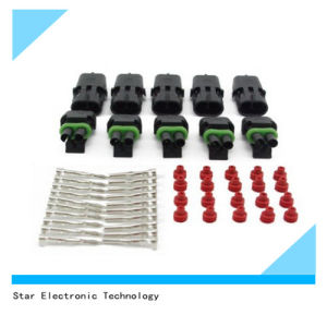 Waterproof Electrical 2 Pin Way Automotive Connector with Terminal pictures & photos