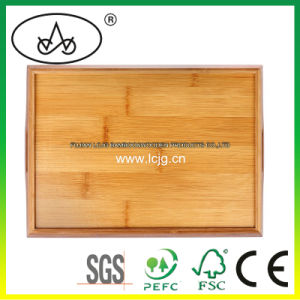 Serving Tray for Hotel/Restaurant/Household/ Tea House/ Tea/ Drink/Fod/Dishes/Dessert/Bread/Breakfast/Picnic/Storage/Daily Use/Eco-Friendy/Bamboo/Wood (LC-388B)