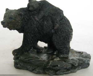 Customized High Quality Bear Figurine with Resin Material pictures & photos