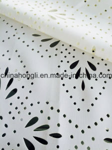 T/Sp 95/5 Laser-Cut Hollow Scuba Knitting Fabric for Fashion Lady′s Garment pictures & photos