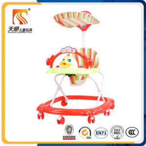 Push Handle Power Polyester Baby Walker with Canopy pictures & photos