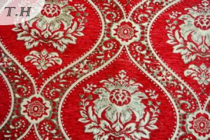 Dubai Red Tapestry Sofa Fabric 310GSM (fth31804) pictures & photos