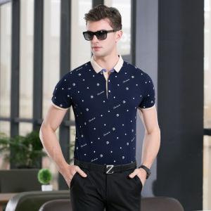 Printed Polka DOT Polo Shirt for Man′s Clothes pictures & photos