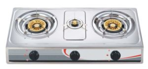 Stainless Steel Panel Three Burner Gas Stove