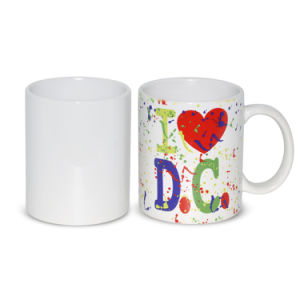 High Quality 11oz Bone China Sublimation Mark Cup DIY Personalized Mugs pictures & photos